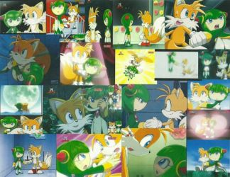 Sonic X= Tails and Cosmo Wallpaper by bigpurplemuppet99