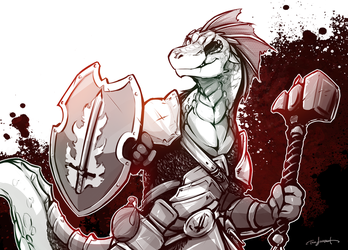 Lizardfolk Cleric by Twokinds