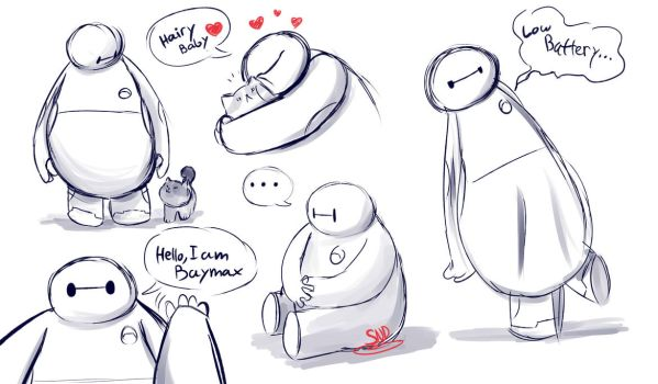 BH6-Baymax doodles by SnookieVonPink123
