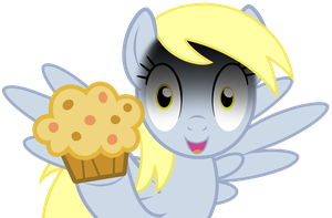 Derpy on Muffins Vector by GreenMachine987