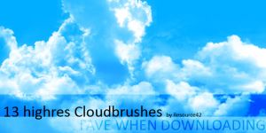 13 cloudbrushes by Resource42