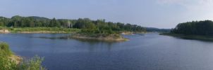 Boardman Pond Panorama by DaLeahWeathers