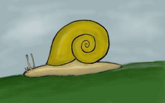 a snail for nori by Miss-Raccoon