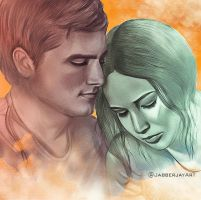 Katniss and Peeta by JabberjayArt