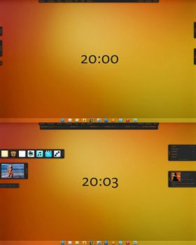 Warm orange Desktop 2 beta by C0deC0ld