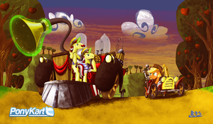 PonyKart Boss Challenge - The Flim Flam Brothers by Blue-Paint-Sea