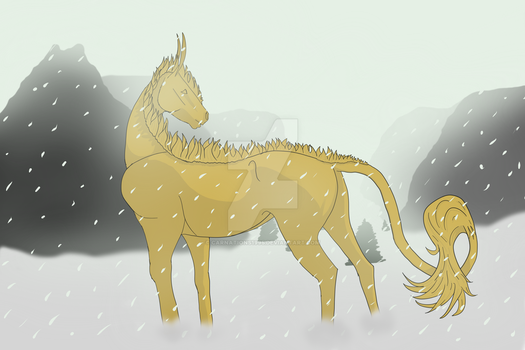 WIP of WME in snow by carnations1995