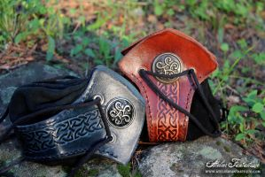 Leather purses by AtelierFantastique