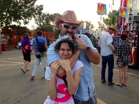Me with my uncle at the stampede celebration by Queenofraging
