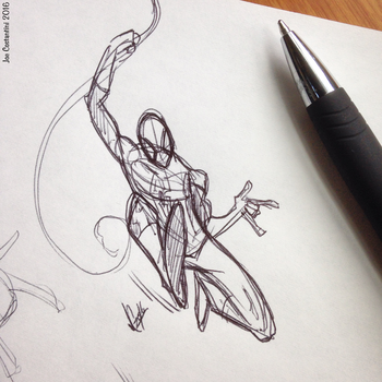 Spidey Sketch #124 by JoeCostantini
