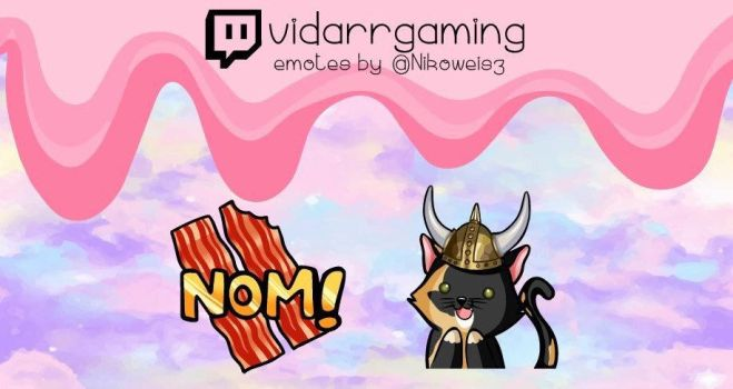 Commission- Twitch Emotes- Vidarrgaming by Nikowise