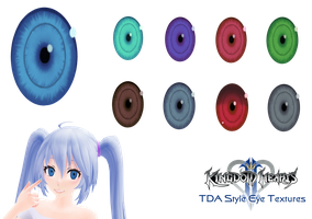 [MMD] Kingdom Hearts II ~ TDA Compatible Eyes by ChrissyNoelle