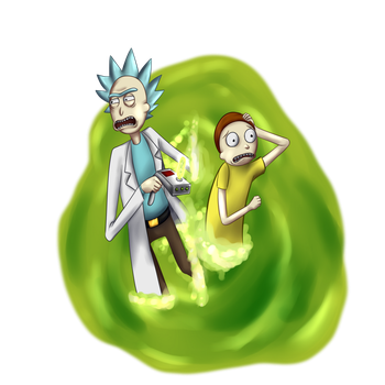 Rick and Morty by Ken-Dolly