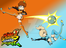 Strikers Charged Daisy and Rosalina by FamousMari5