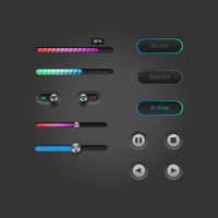 Free UI Elements by Czarny-Design