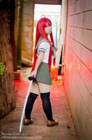 Flame-haired Blazing-eyed Hunter by Hitomi-Cosplay