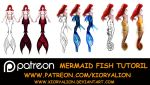 Mermaid tail tutorial 1 by KioryAlion