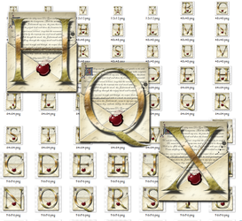 Steampunk Letters Iconset in MAC HQX format by yereverluvinuncleber