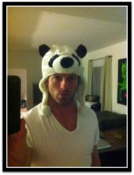 Ian Bohen and his panda hat by LightninBluEyes