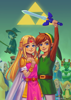 A Link Between Worlds: Hyrule is saved by Carcoiatto