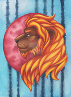 Fire Lion by CeciliaX