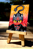+Litten ACEO - Pokemon+ by madhouse-arts