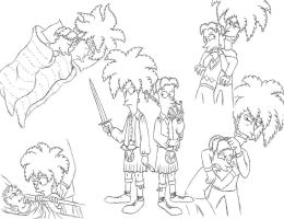 Terwilliger Bros. sketches by Nevuela