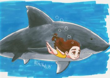 Swimming With Sharks by RikuYanki