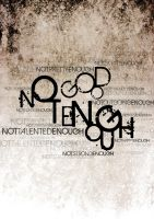 Not Good Enough by graphiqual