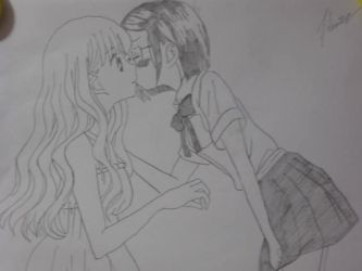 My first yuri drawing! by Andrix1995