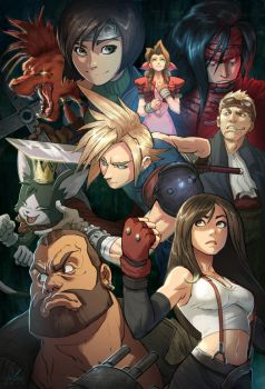 Final Fantasy 7 by KendallHaleArt