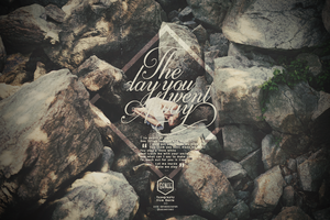 Typography|The day you went Away. by GenieDyo