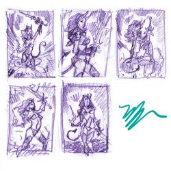 cover roughs by MichaelDooney