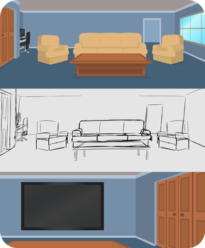 Channel Hopper's TV Room by CrownePrince