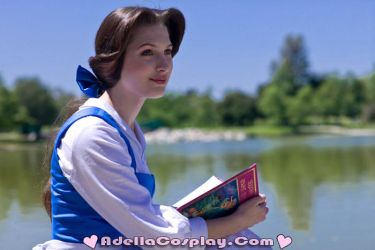 Cosplay: Belle Blue Dress by Adella