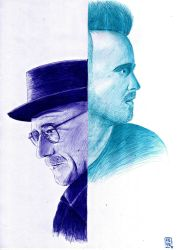 Breaking Bad - Walter and Jesse by A-Lack-of-Rainbows