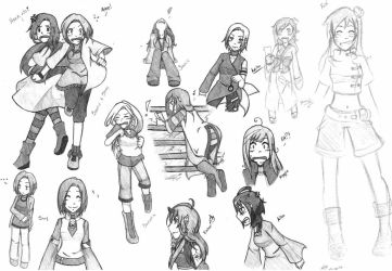 Variety and Dynamic Practice Sketches by SoarinSoraya