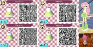 Animal Crossing: New Leaf QR Code - Fluttershy by MysteryMoonbeam