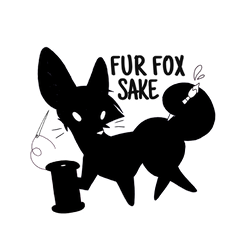 Fur Fox Sake MonoChromatic by artwork-tee