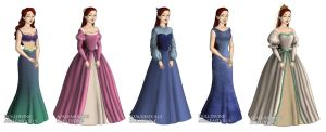Ariel (The Little Mermaid) outfits by sarasarit