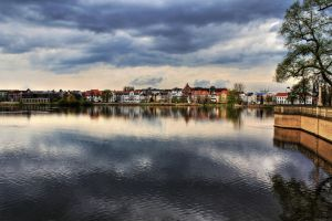 Schwerin Cityscape and Lake by KingKlever