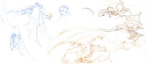 Temeraire : Dragons (and Tharkay) by jainas