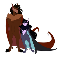Aktun and Seraphina by lilgrimmapple