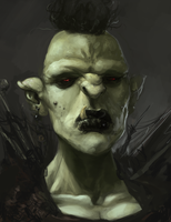 The Orc King's Daughter WIP 2 by Erebus88