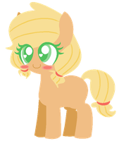 filly applejack picture by L-ittleApple