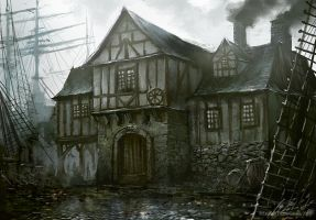 Leaping Fish Tavern by daRoz