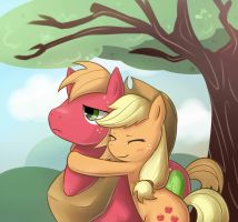 Apple Jack and Big Mcintosh by Marenlicious