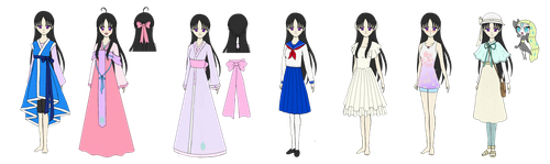 AU Outfits by LilacHymnsong