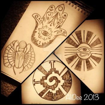 Ancient symbols by AliDee33
