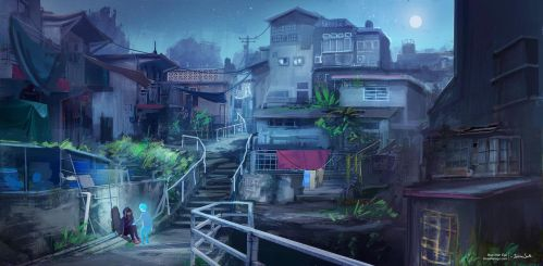 Blue Alter Ego: Exploring the Island by Mei-Xing